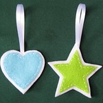 Felt Star and Heart Ornaments 2