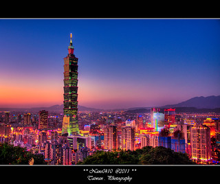 日暮舞曲_HDR(Taipei 101 Tower)