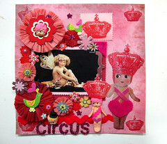 Circus Cupie Scrapbook Layout! 6