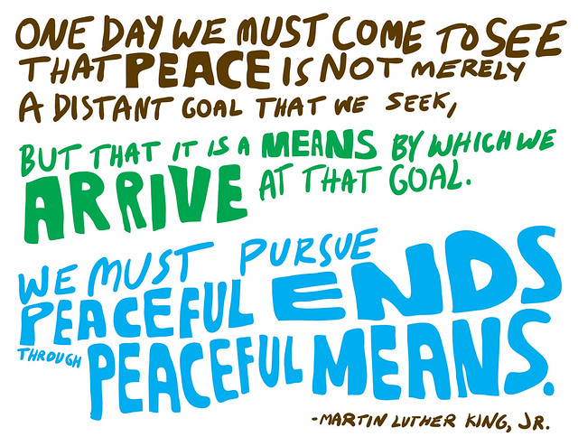 "Peace One Day Quotes: ""One Day We Must Come To See That Peace Is Not Merely A"