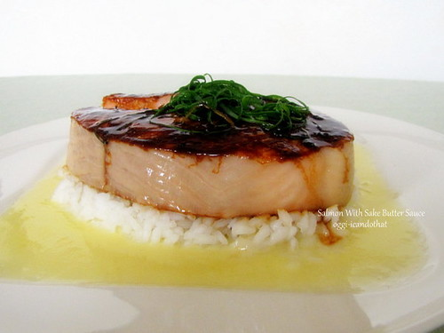 Miso Salmon with Sake Butter Sauce
