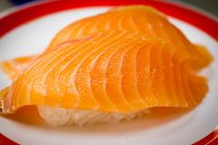 orange, salmon, sashimi, fish, sushi, garnish, lox, food, dish, cuisine, smoked salmon,