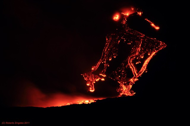 Etna Eruption 2011, 12 January