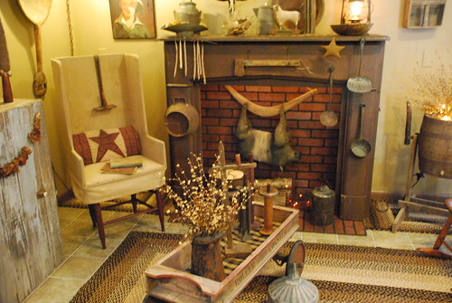Primitive country decorating a storybook life for Primitive living room ideas