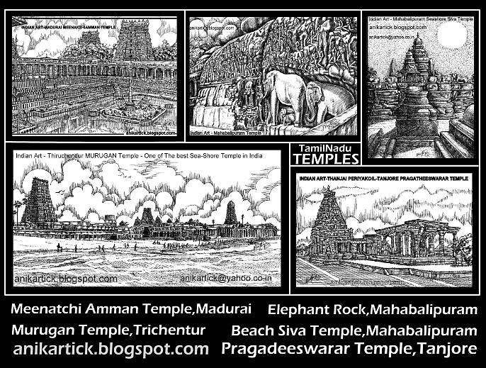 Tamilnadu temples Art - Artist Anikartick,Chennai,Tamilnadu,India