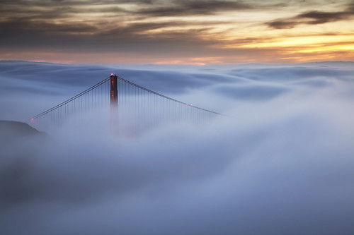 Heaven on Earth - Foggy Golden Gate Bridge, San Francisco, CA