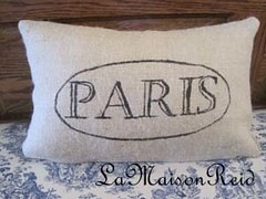 "How To Make a Burlap ""Paris"" Pillow"
