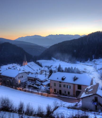 winter sunset mountain tramonto postcard inverno natale montagna trentino cartolina sera mendola ruffre