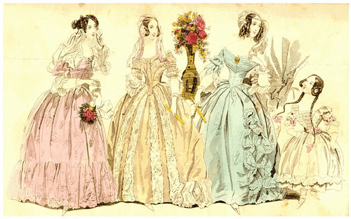 19th Century Fashion Plate: Godey's Ladies Book 1839