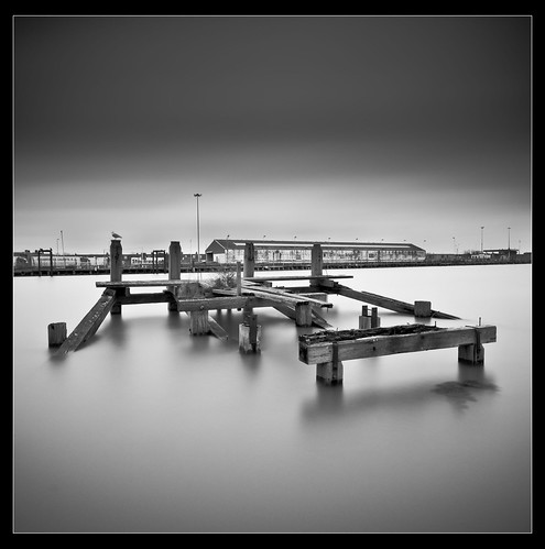 "sea white black water docks sussex timber gull jetty nd newhaven ""long ""black white"" exposure"" density"" ""neutral"