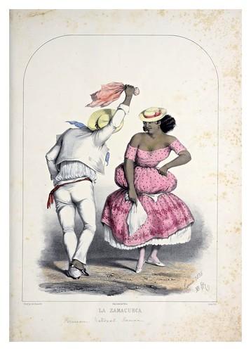001- La Zamacueca-Recuerdos de Lima, álbum, tipos, trajes y costumbres Vol 2-1857-Bonaffé A.A.
