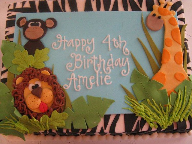 Jungle Theme Sheet Cake Images http://www.flickr.com/photos/21933402@N06/5213068901/