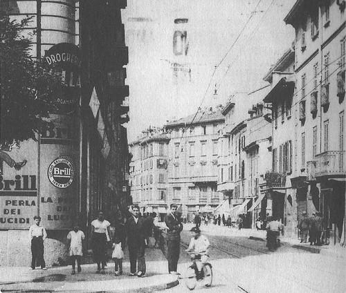 Via Canonica angolo con via Cesariano verso piazza Morselli
