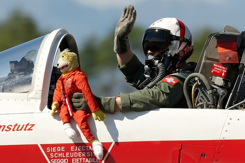 Flat Eric - mascot of the Patrouille Suisse
