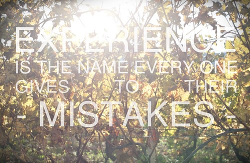 the name to our mistakes