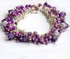 Purple cluster bracelet Fiona (3)