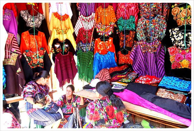 Clothes in a market in Guatemala