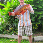 My 18 Lb Red Bass. Caught at  Fore and Aft reef off Townsville Queensland