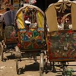 Bicycle Rickshaws All Lined Up - Kathmandu, Nepal