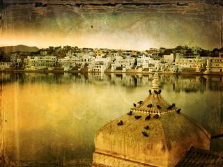 India . Rajasthan . the Holy Hindu lake of Pushkar