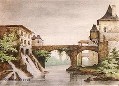 Moulin et pont Mauléon
