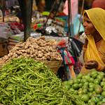 Shopping at the Fresh Market - Udaipur, India