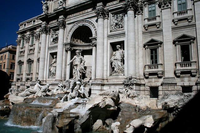 Trevi Fountain in the heart of Rome, Italy by flickr user Averain
