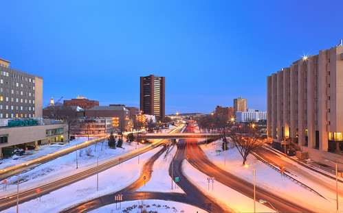 new longexposure winter light columbus panorama usa snow haven cold night canon dusk connecticut trails newengland knights newhaven chilly 24 mm expressway snowfall chill tse knightsofcolumbusbuilding