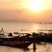 Anchoring the Fishing Boats at Sunset - Koh Samui, Thailand