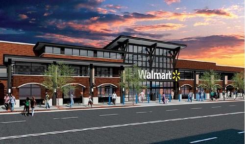 Walmart rendering, Georgia Avenue store, DC