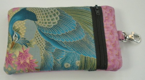 Haut Totes Peacock cell phone bag (1)