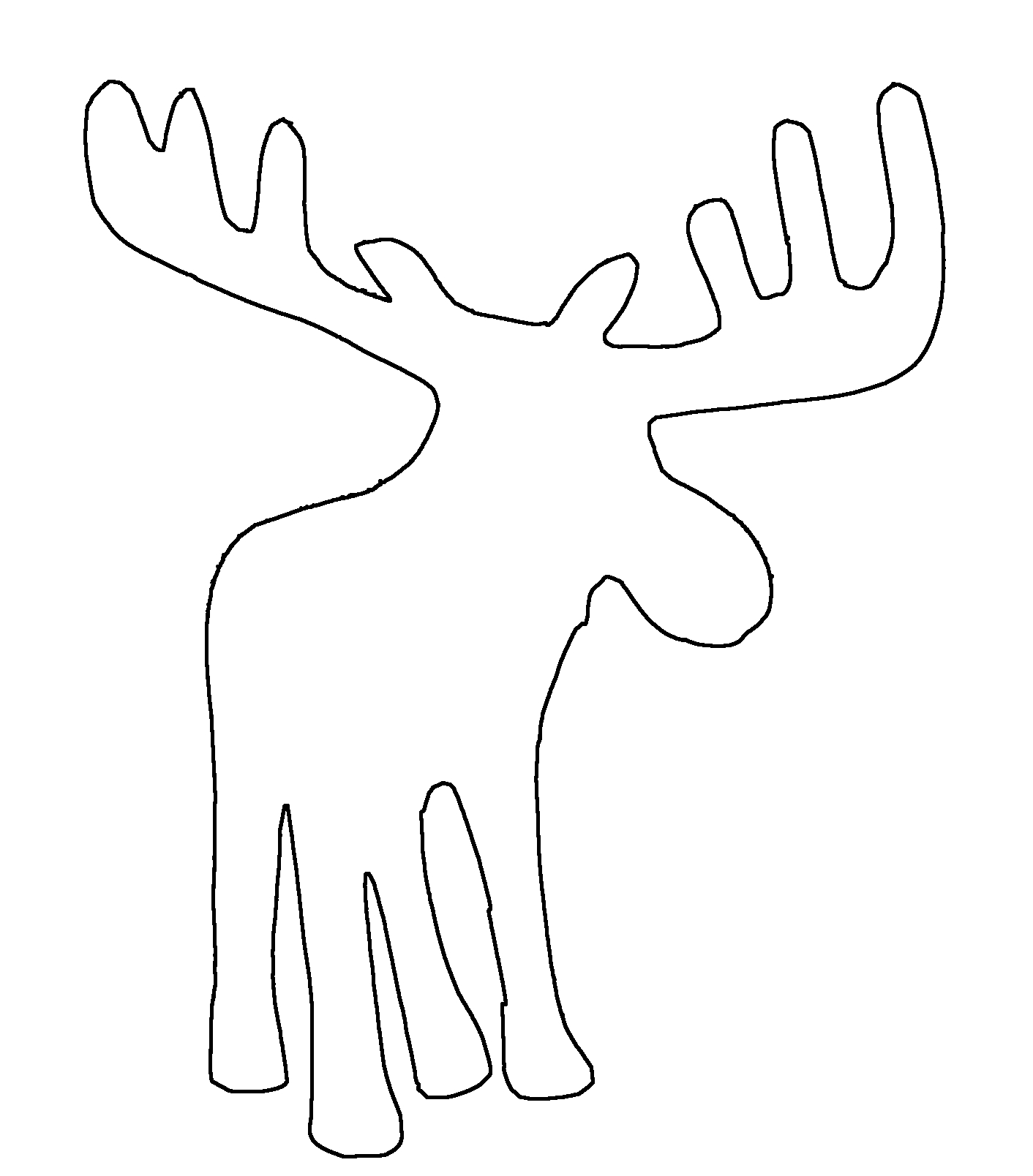 Moose head drawing outline - photo#21