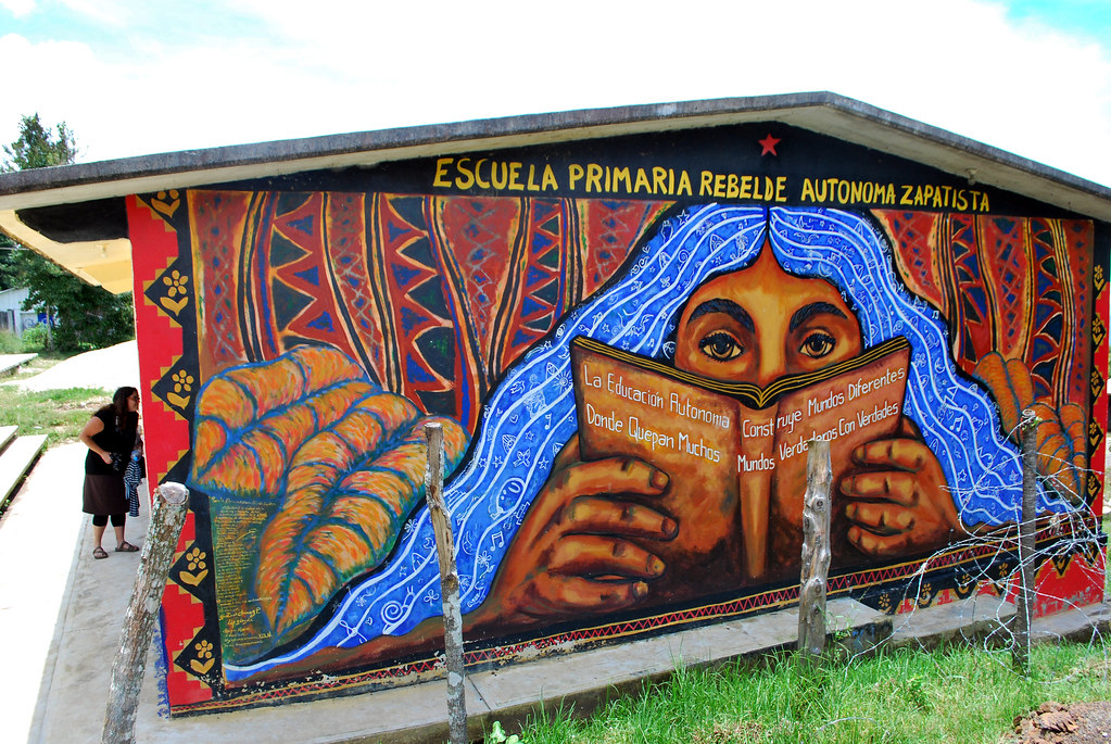 a primary school in Zapatista territory