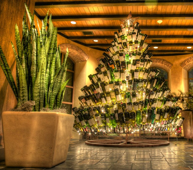 Wine bottle christmas tree explore jonas lamis 39 photos for How to make a wine tree