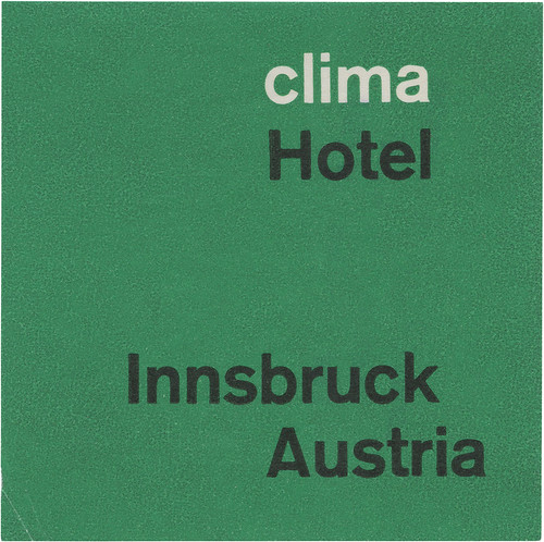 Clima Hotel, Innsbruck (74mm x 74mm)