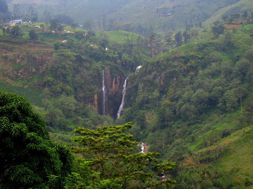 WATERFALLS OF CENTRAL SRI LANKA .