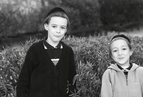 ילדים בבני ברק, ינואר 2011. לפיד לא מסוגל לדמיין אותם
