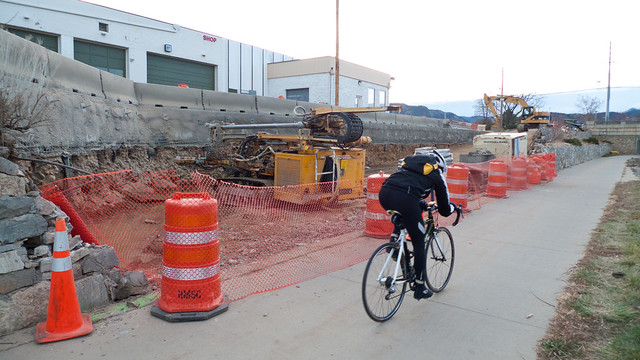 Goose Creek Path and 30th Street Progress by Zane Selvans on flickr