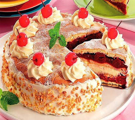 Quark cherry pie recipe