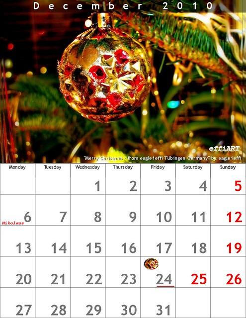 my creation december 2010 selfmade calendar dezember. Black Bedroom Furniture Sets. Home Design Ideas