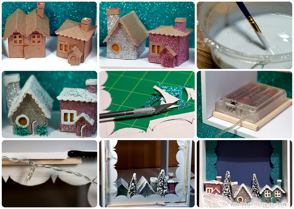 Tiny Apartment Crafts Modern Christmas Village For A Tiny