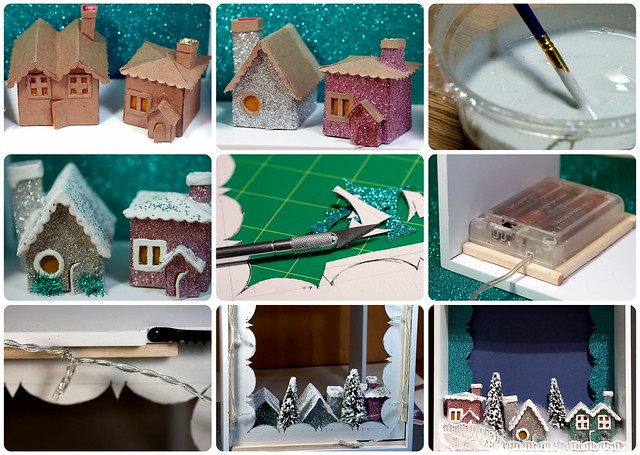 Plaster Christmas Village