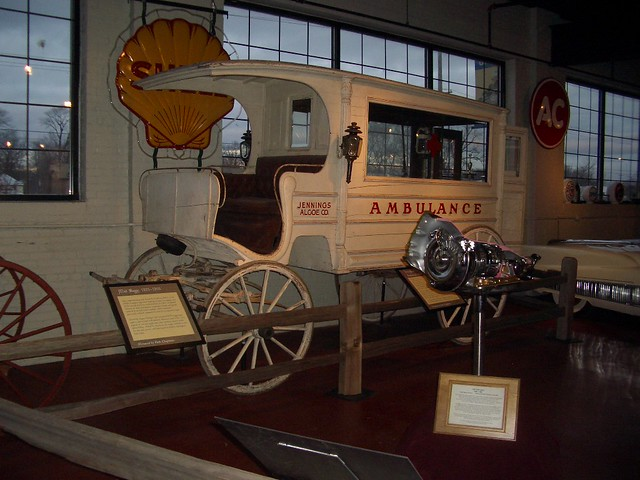 Very cool Victorian Ambulance in the Buick Research Gallery in Downtown Flint Michigan MI