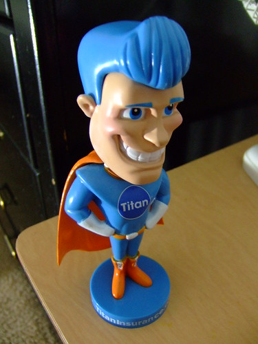 Titan Auto Insurance bobble head