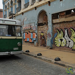 Street Art and Public Transport - Valparaiso, Chile