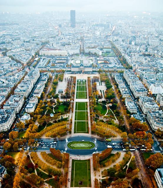 Fall in Paris, France