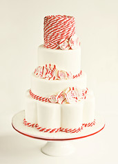Peppermint Twist Wedding Cake