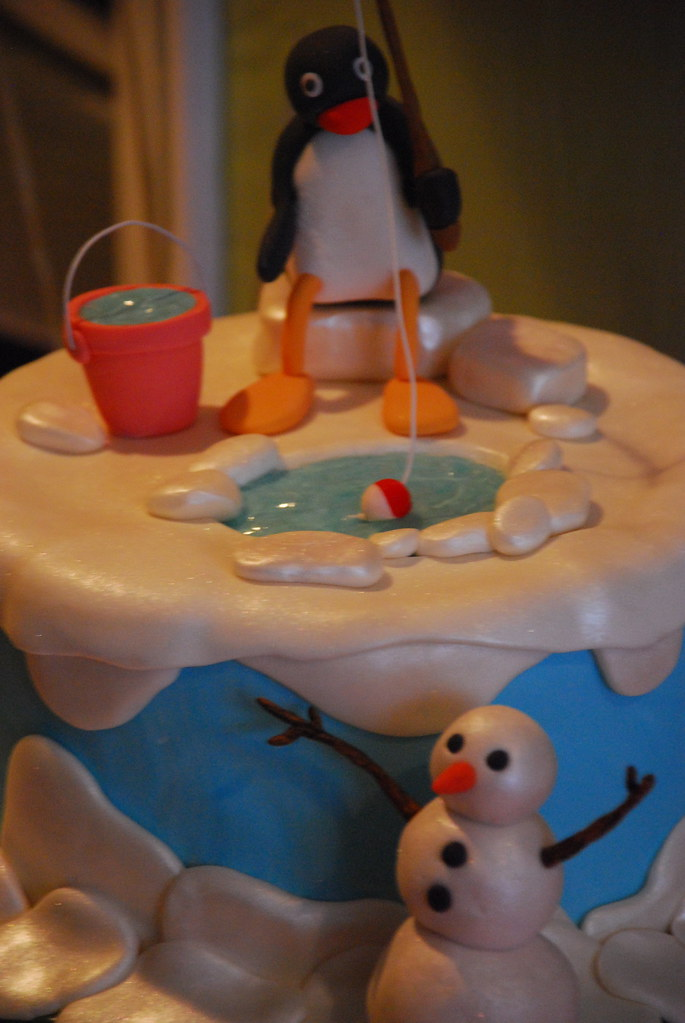 Elmo And Pingu Birthday Cake