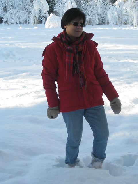 Gay in deep snow