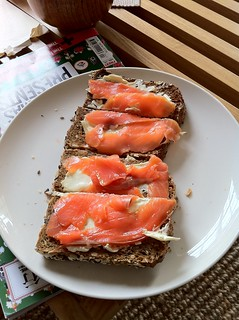 Salmon toast | by Banalities